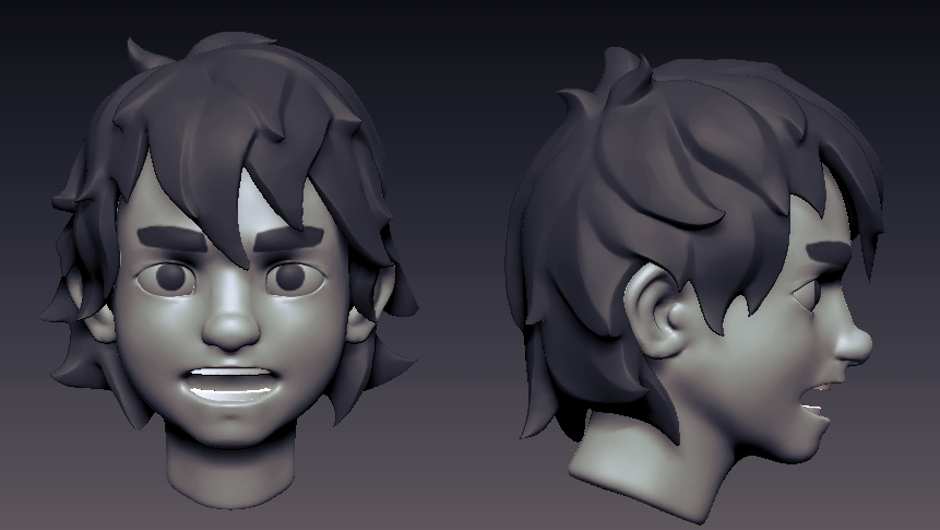 Hair Style 3d Image: Starting A GAME CHARACTER [WIP] Anime Style