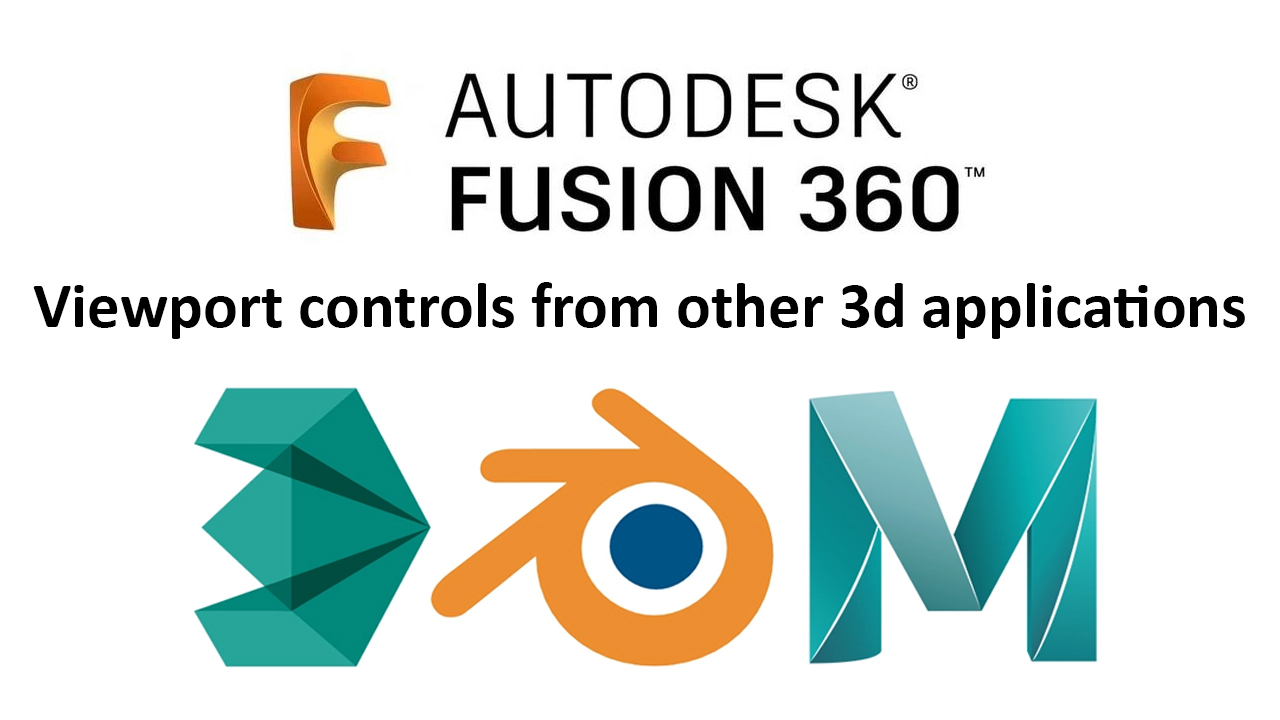 Fusion 360] Viewport controls from other 3D packages — polycount