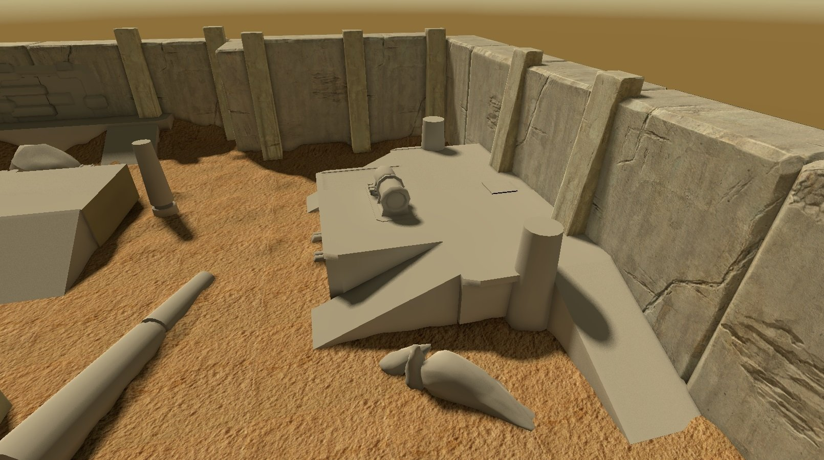 Unity] Environment for top-down shooter — polycount