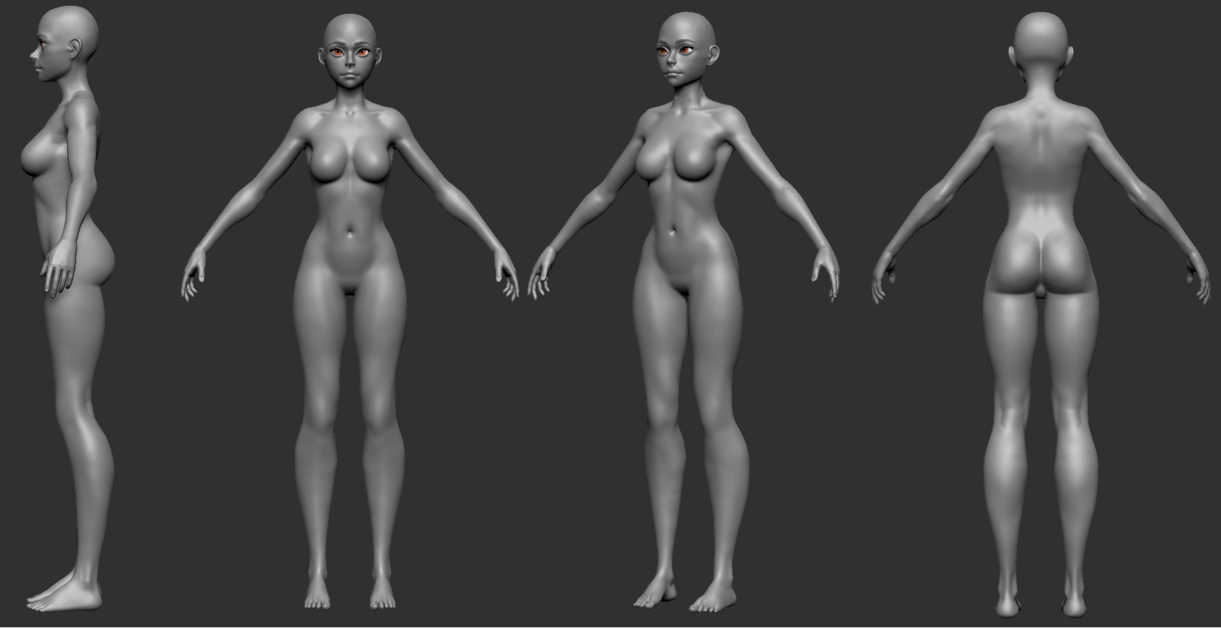 Stylized Female Anatomy - Critique Request — polycount