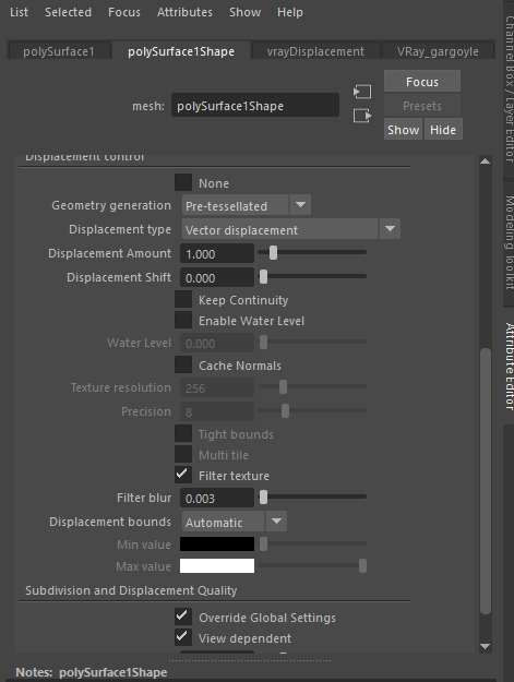 Vector Displacement and VRAY (help please) — polycount