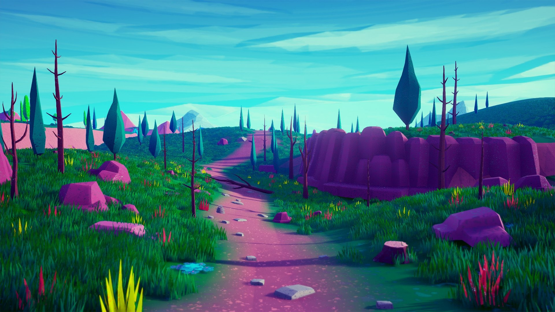 UE4] Lowpoly Stylized Environment — polycount