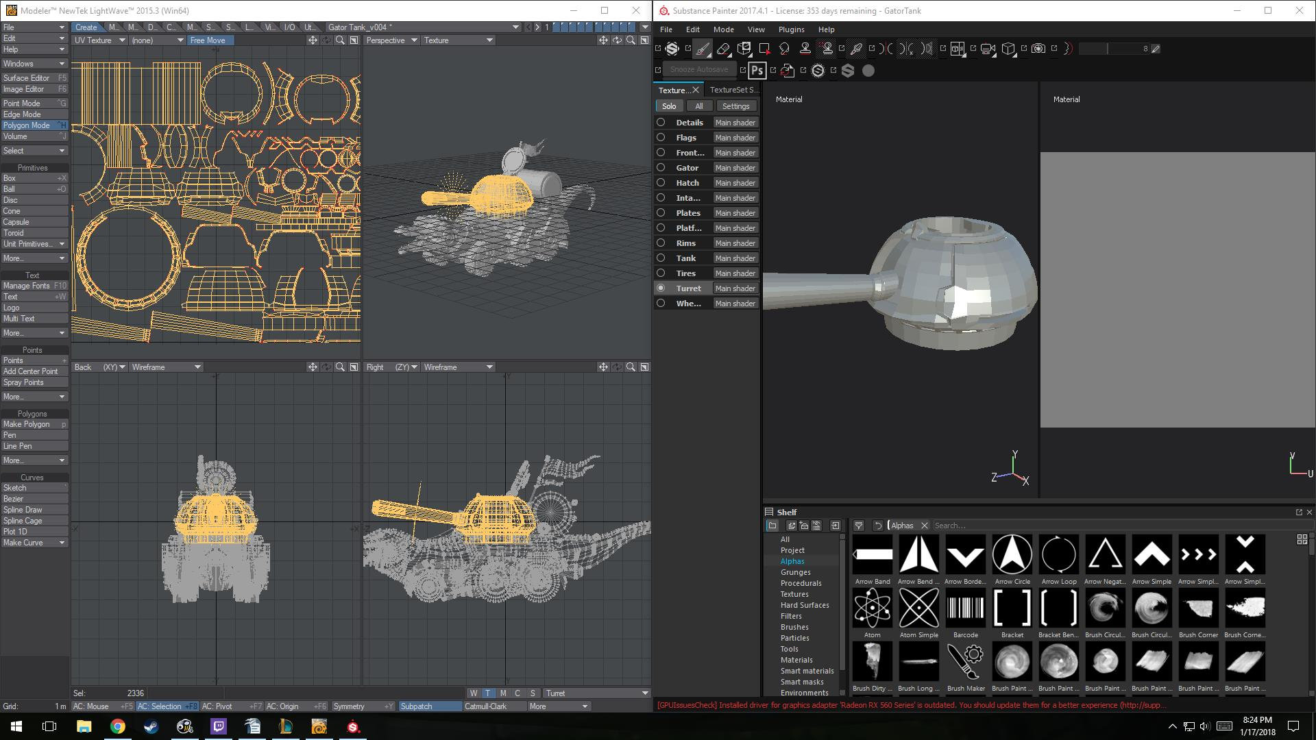 Messed up UVs Substance Painter — polycount