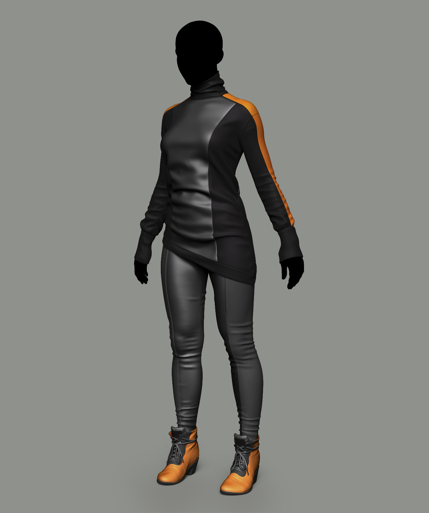 cyberpunk clothing practice — polycount