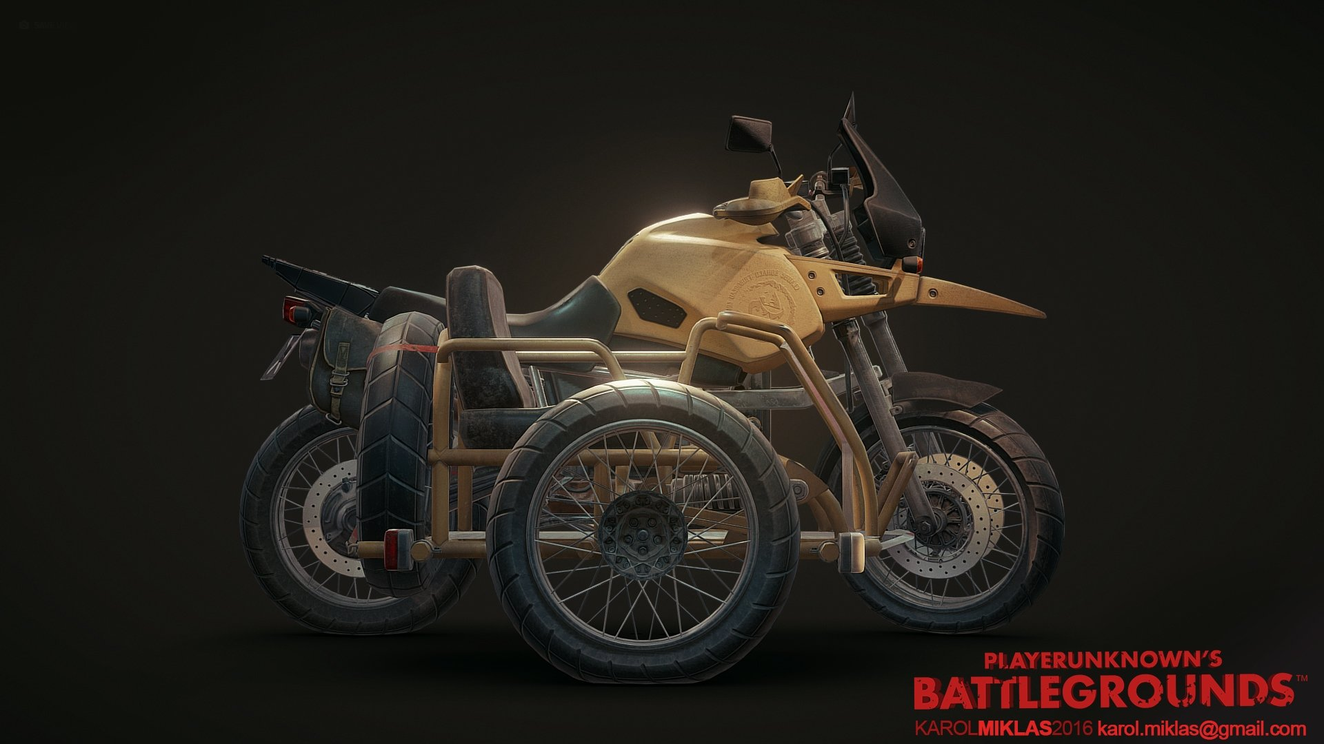 3d Model Playerunknown S Battlegrounds Buggy By Kmiklas