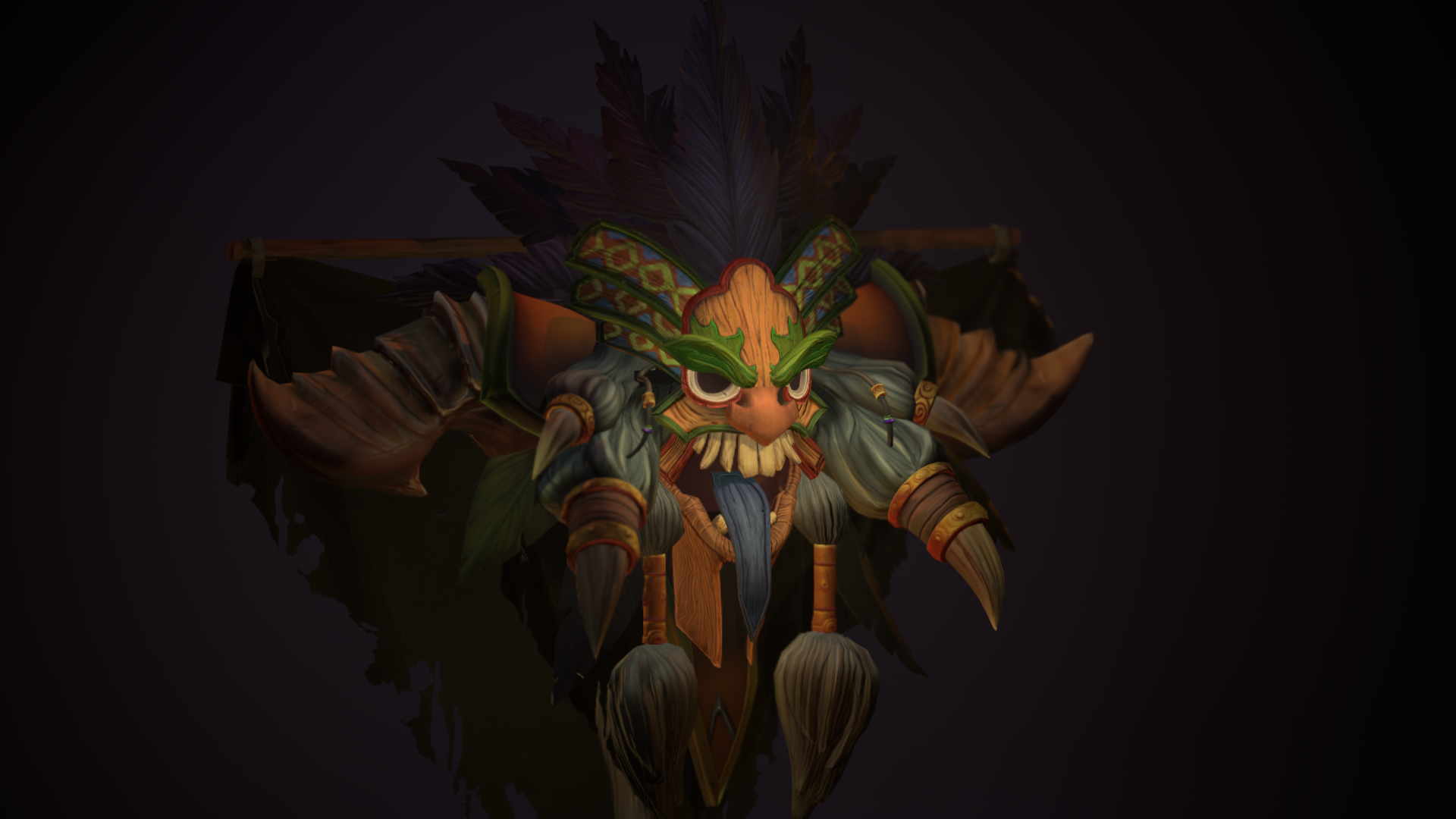 witch doctor crest 3d render