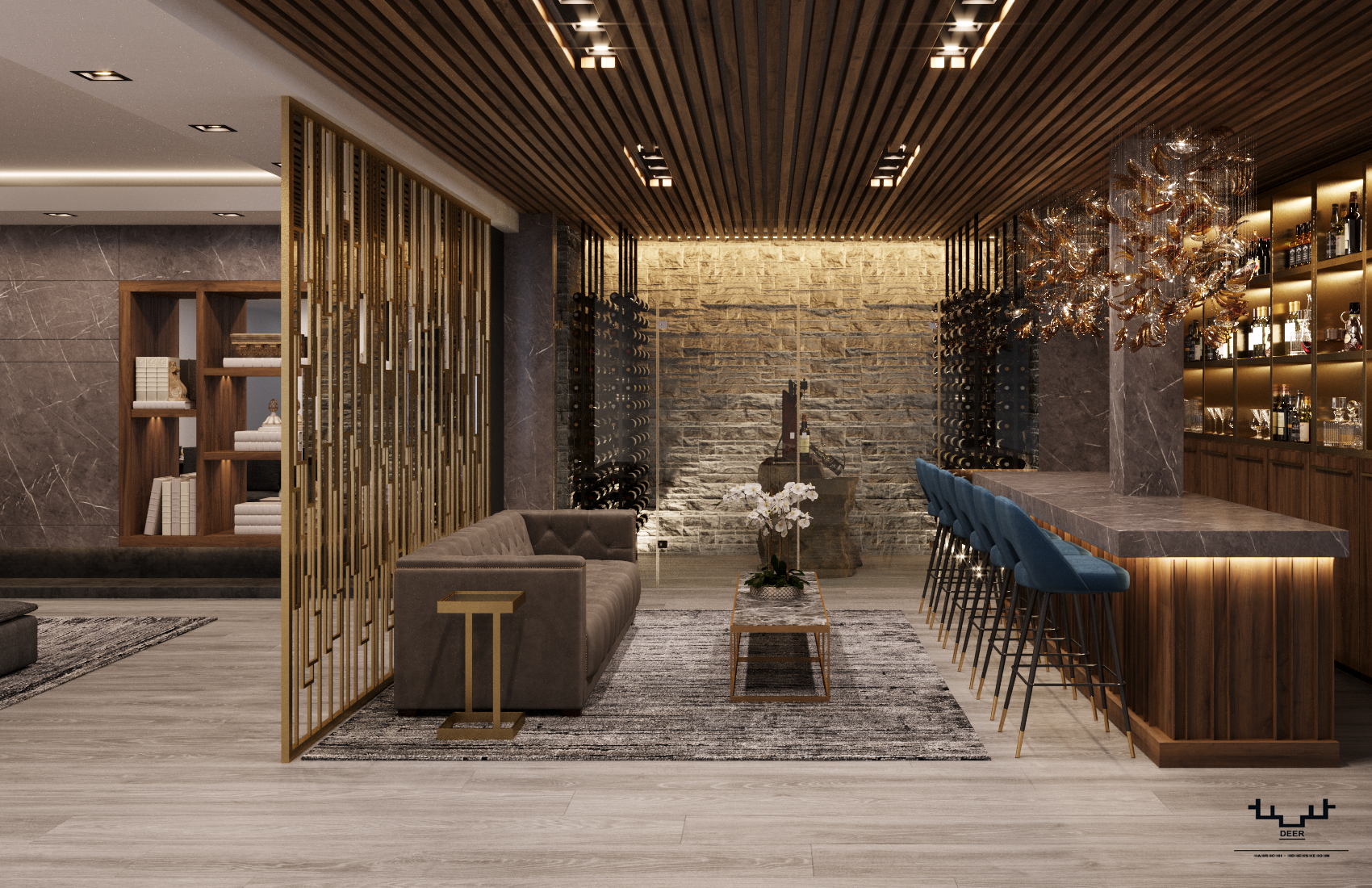 Luxurious Residential Interior Archviz Render