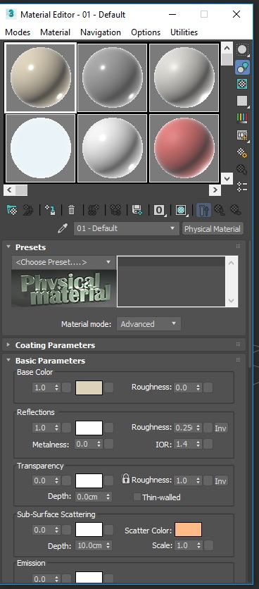 [3ds Max] - How to make object material transparent in version