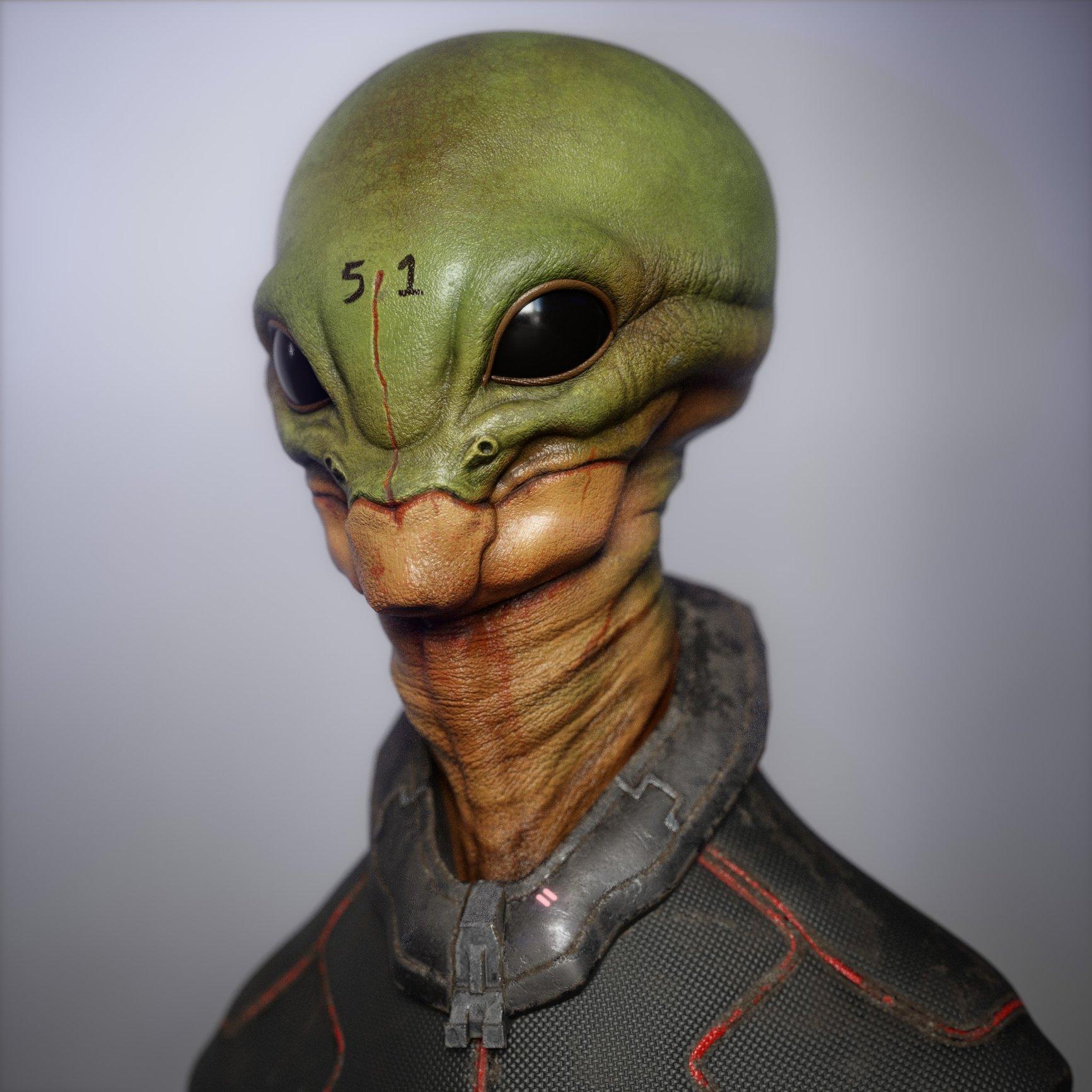 Area 51 Alien — polycount