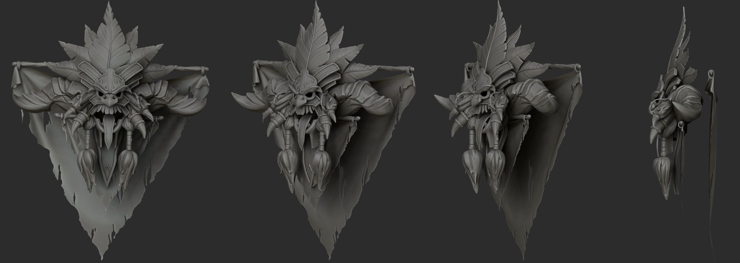 Diablo 3 witch doctor Crest render