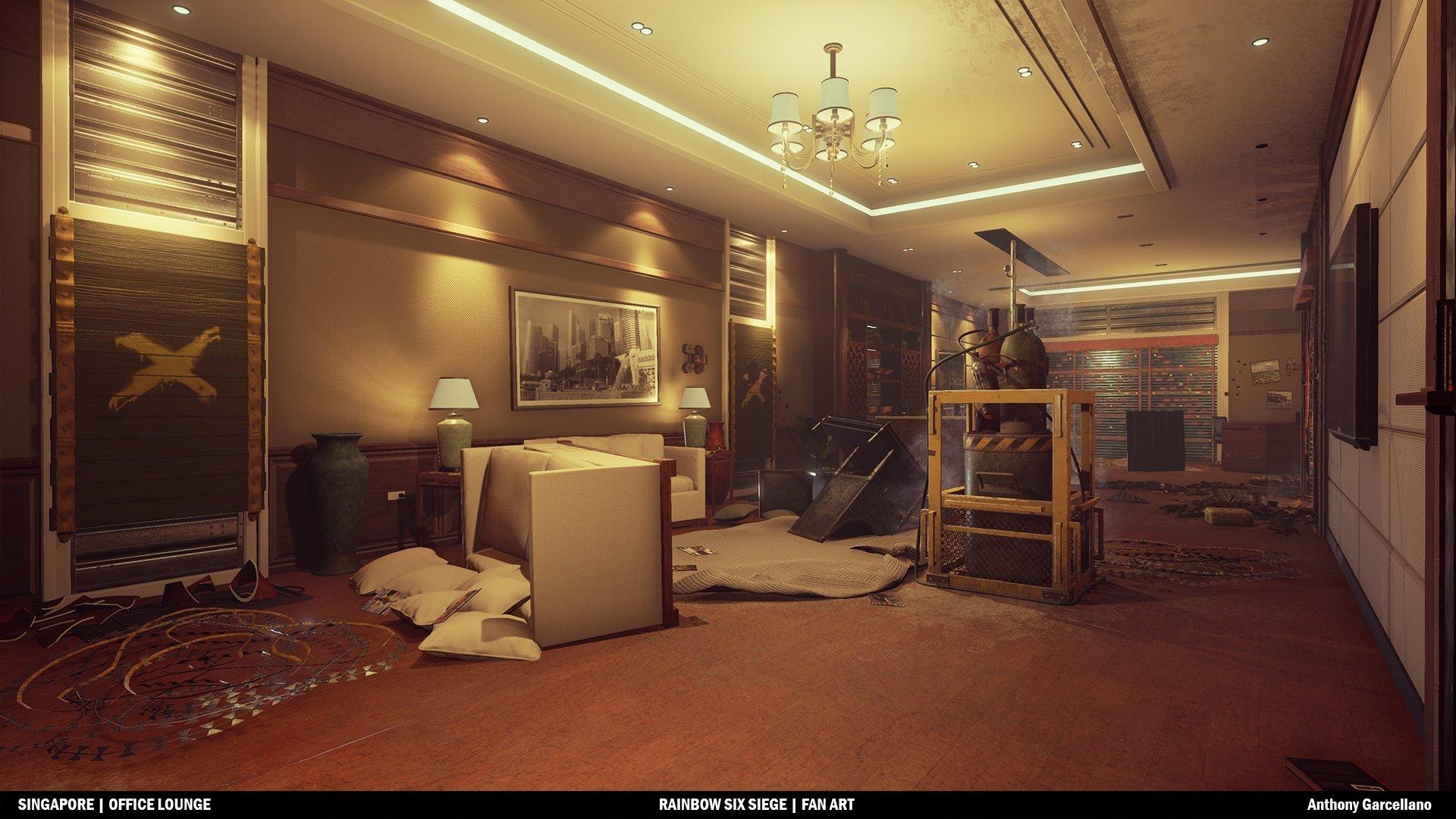 UE4] Office Lounge (Rainbow Six Siege Inspired Scene