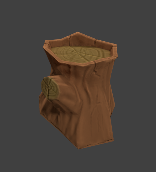 WIP] Low poly fence and wood stump - Tips and Critique — polycount
