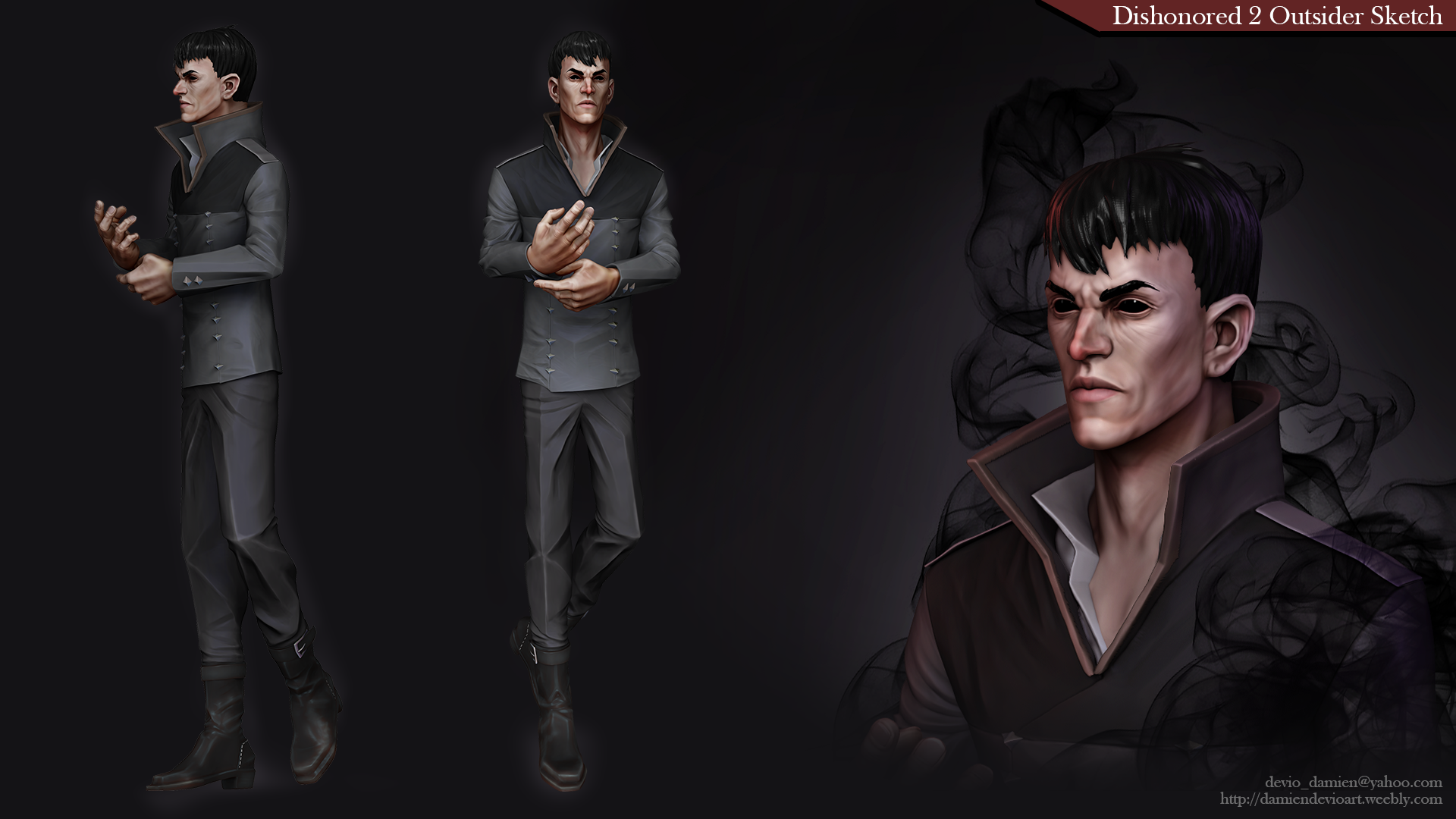 Dishonored 2 The Outsider Fan Art Polycount