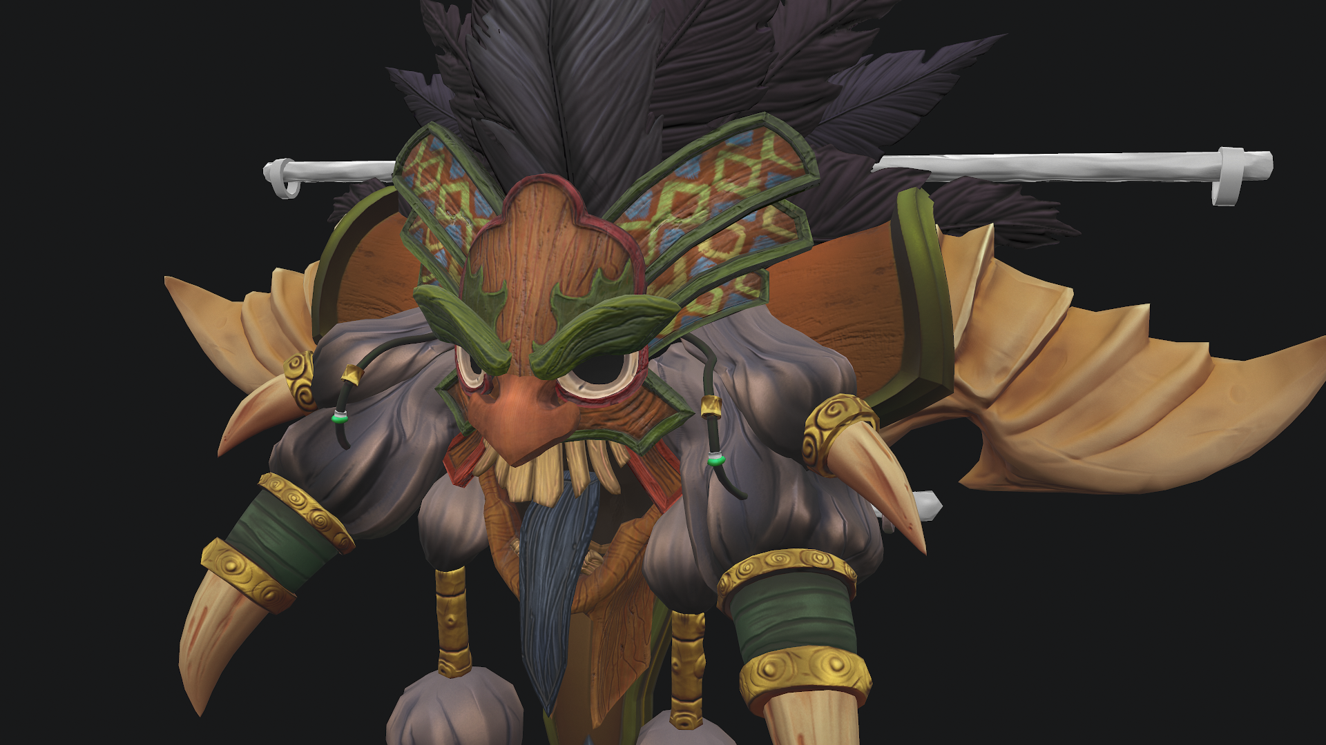 diablo 3 witch doctor crest character free tutorial zbrush maya 3d