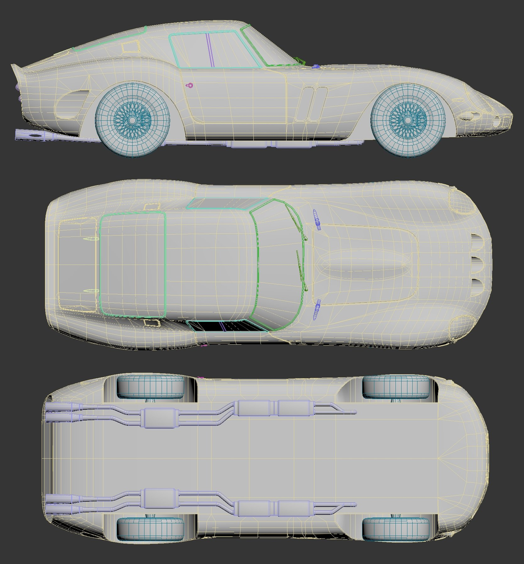 Looking for advices about low poly car modeling — polycount