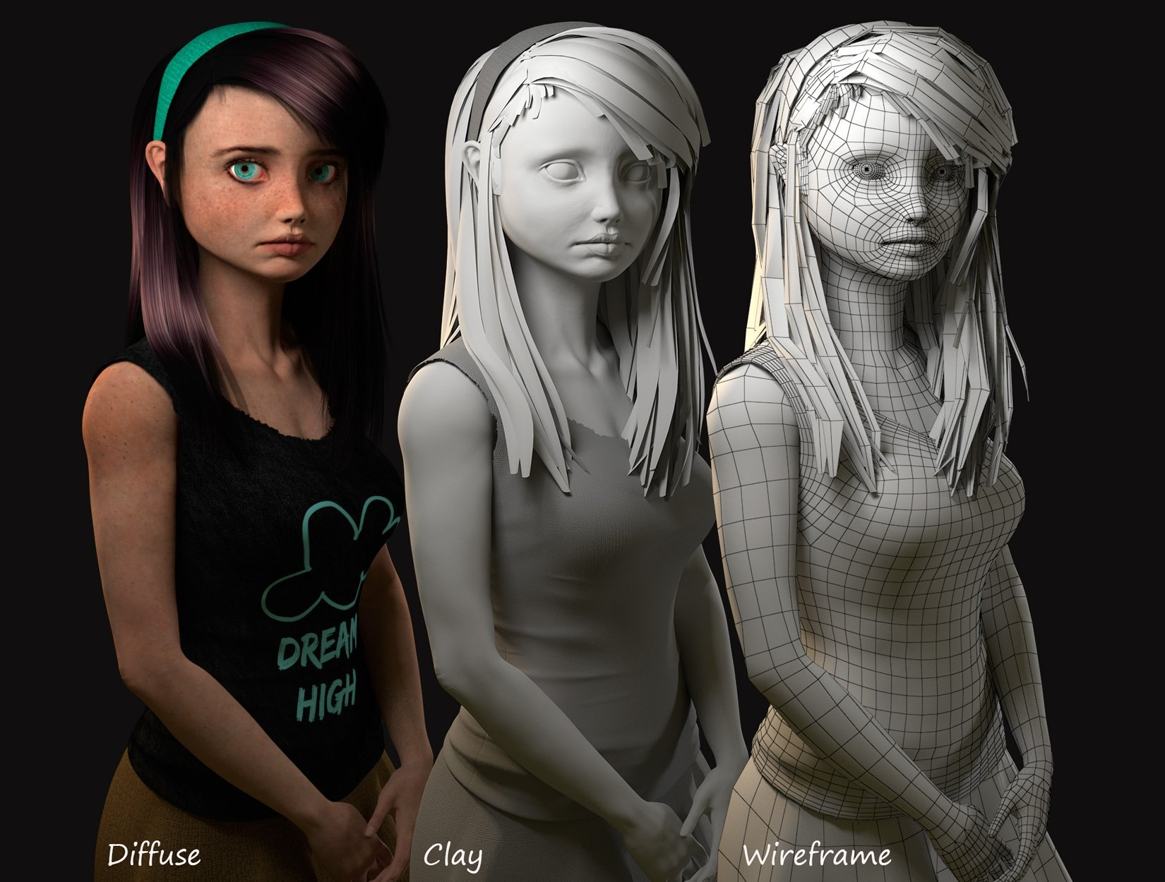 Character Concept Design Maya And Vray : D character artist available — polycount