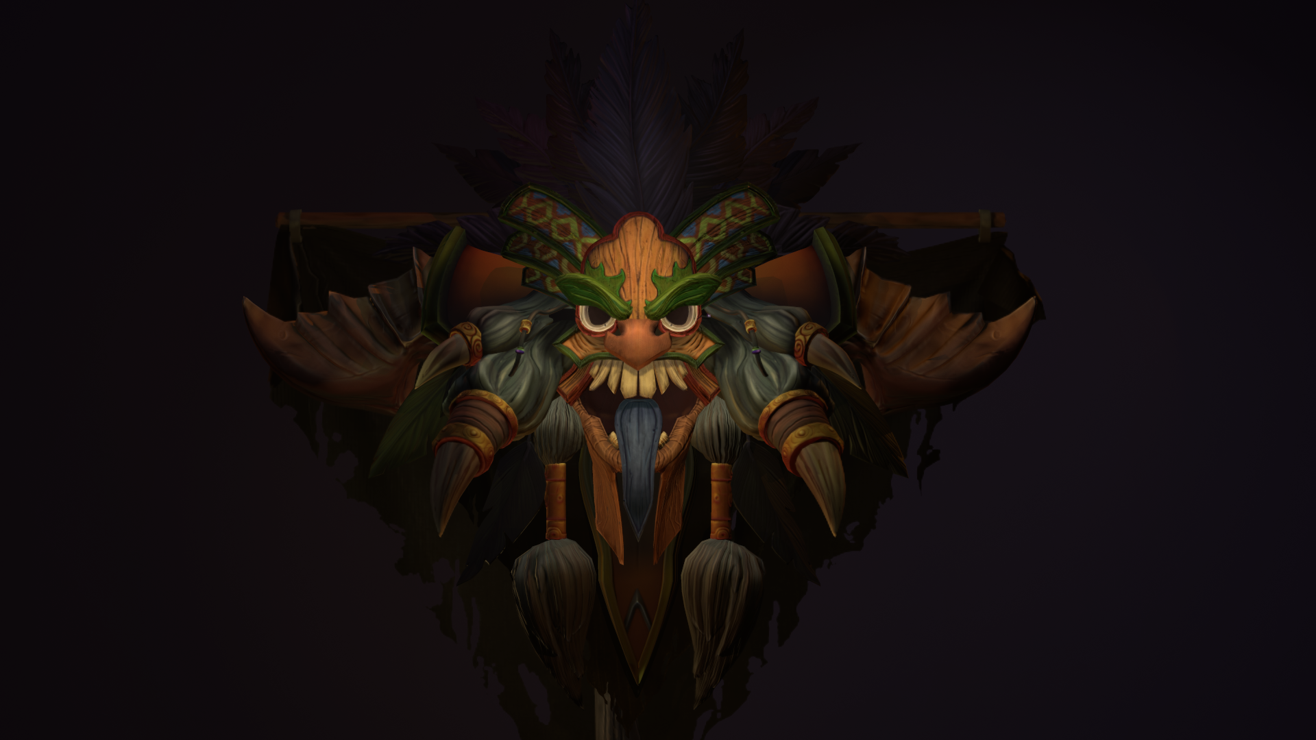 witch doctor diablo 3 3d render