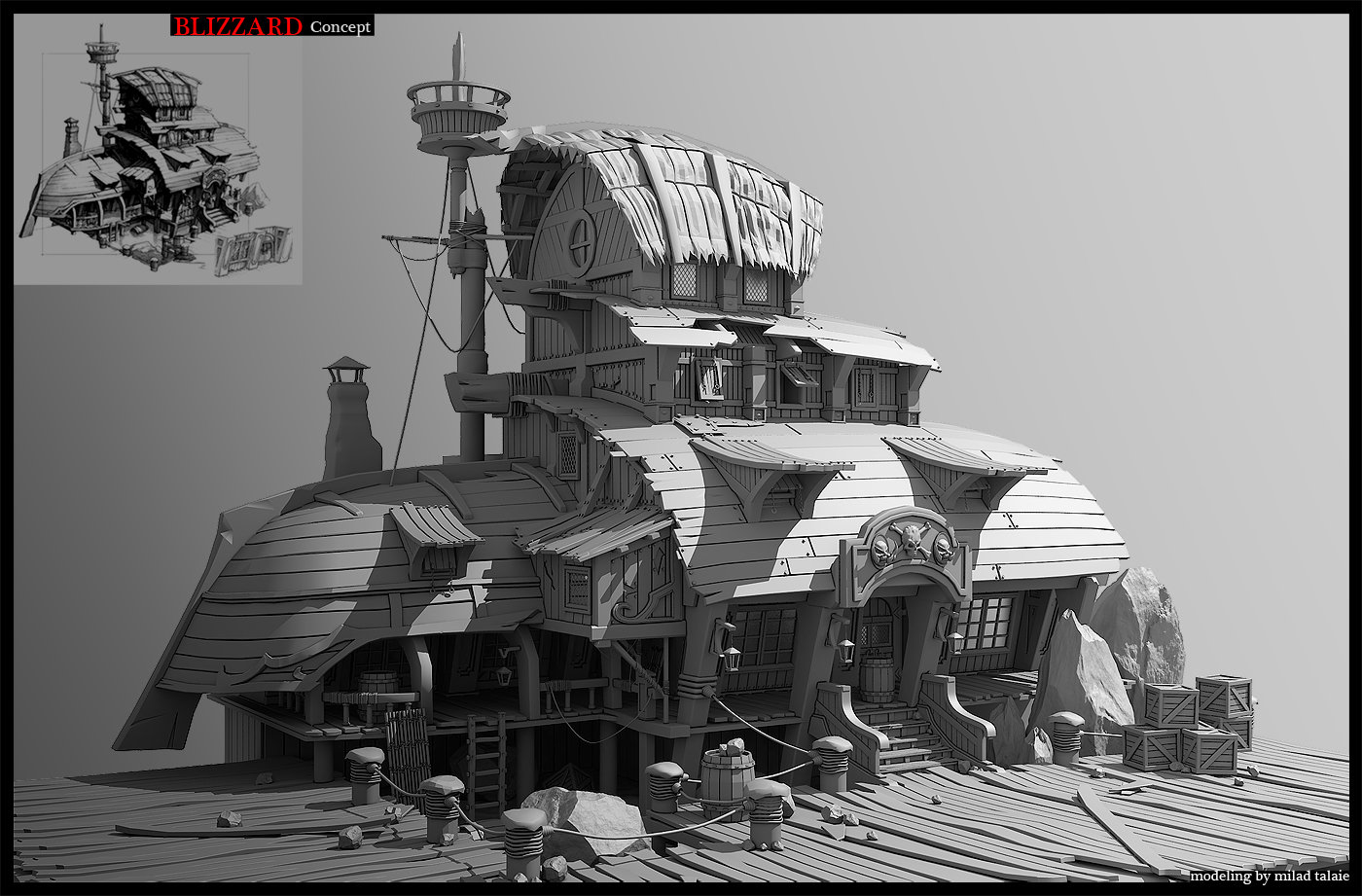 3D Environment / prop artist looking for job — polycount