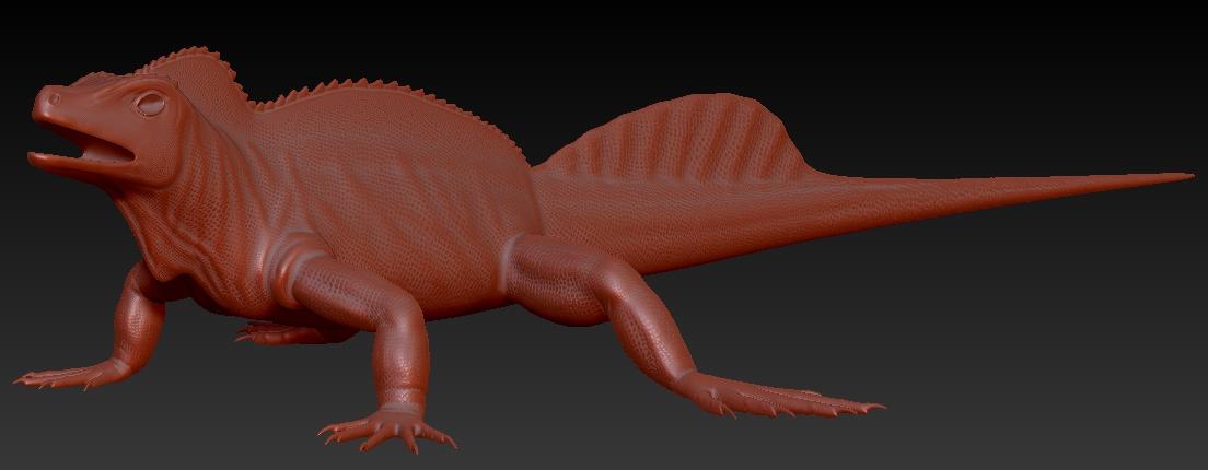 Zbrush sculpt: Philippine Sailfin Dragon — polycount