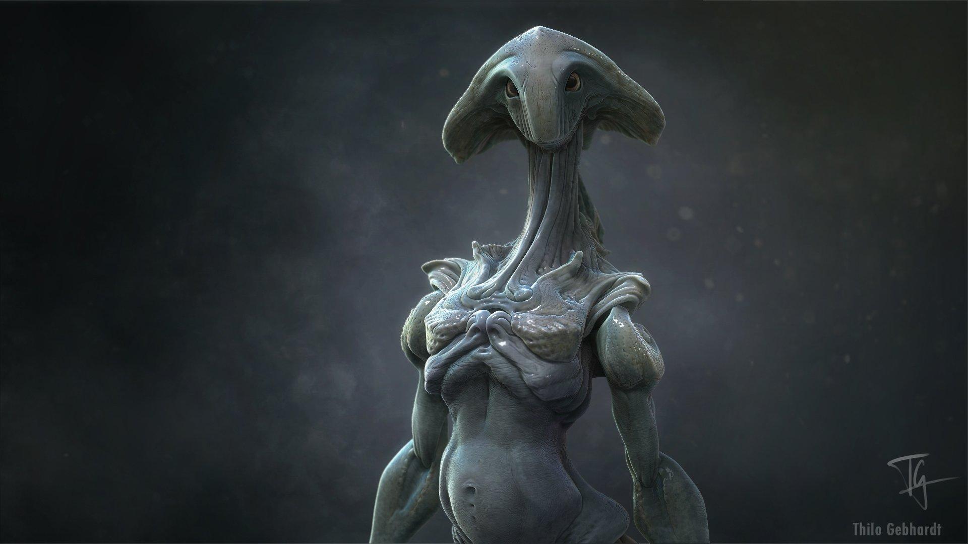 hot alien women art