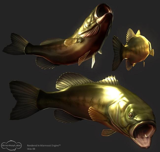 Vrav's Fish in Marmoset Toolbag