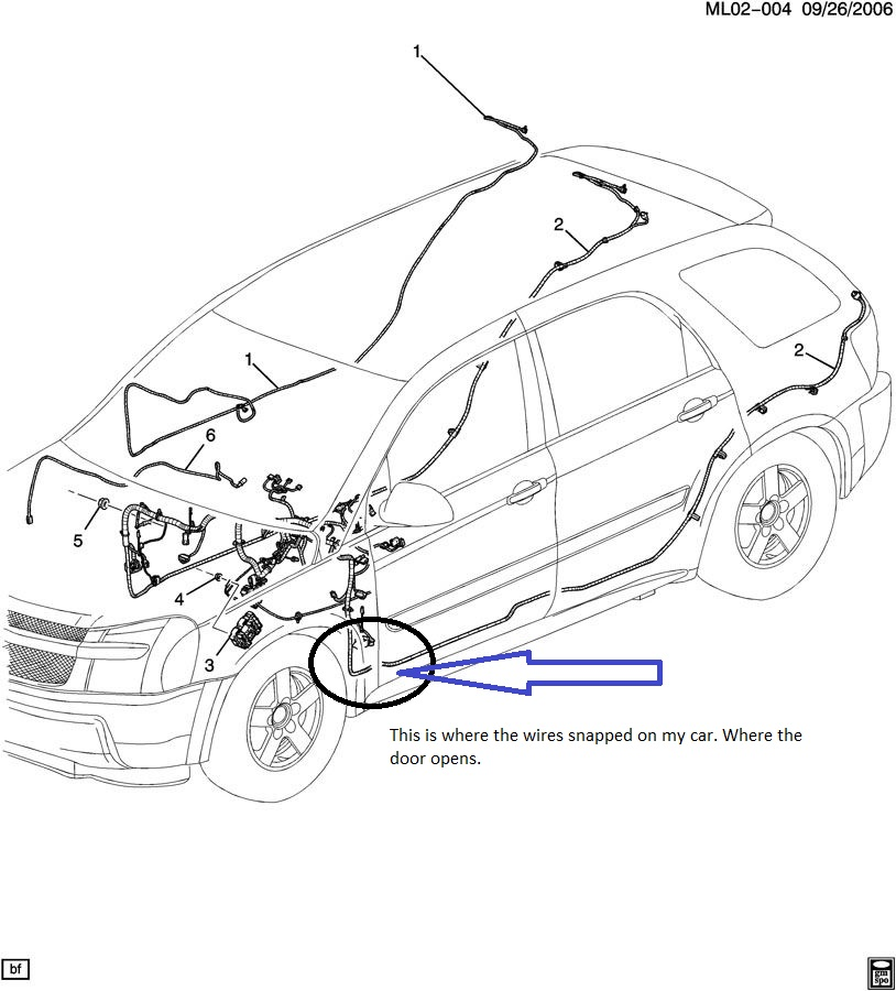 2005 chevy equinox electrical diagram  parts  auto parts