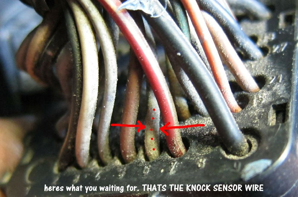 this is the knock sensor wire but do not to the fix based only on this post