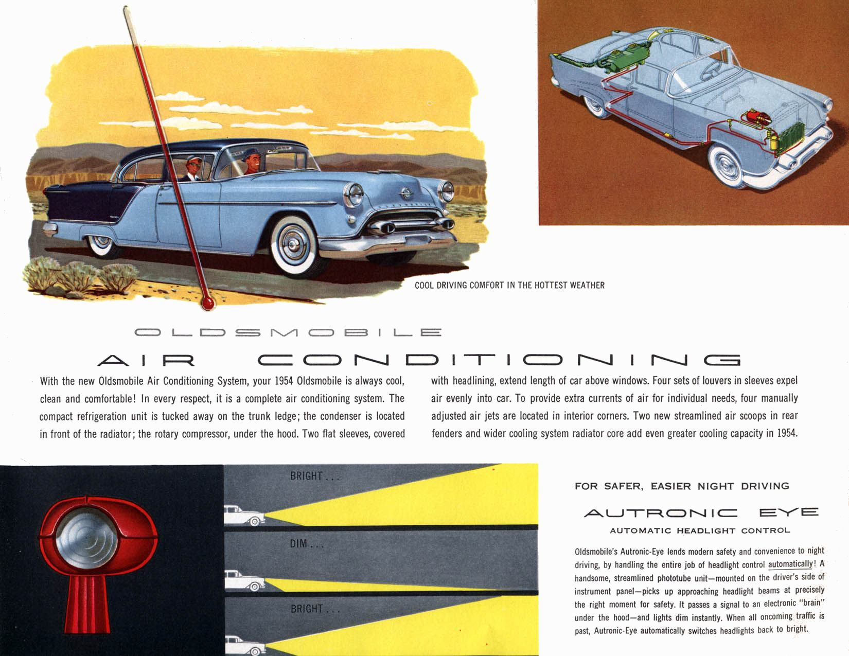 I Spotted An Insert Obscure Car Name Here Classic Today Auto Air Conditioning Wiring Diagram For 1954 Was Available The Rocket Engine Up To 185 Horsepower And Think Oldsmobile Had Better Visibility Than Probably Any You