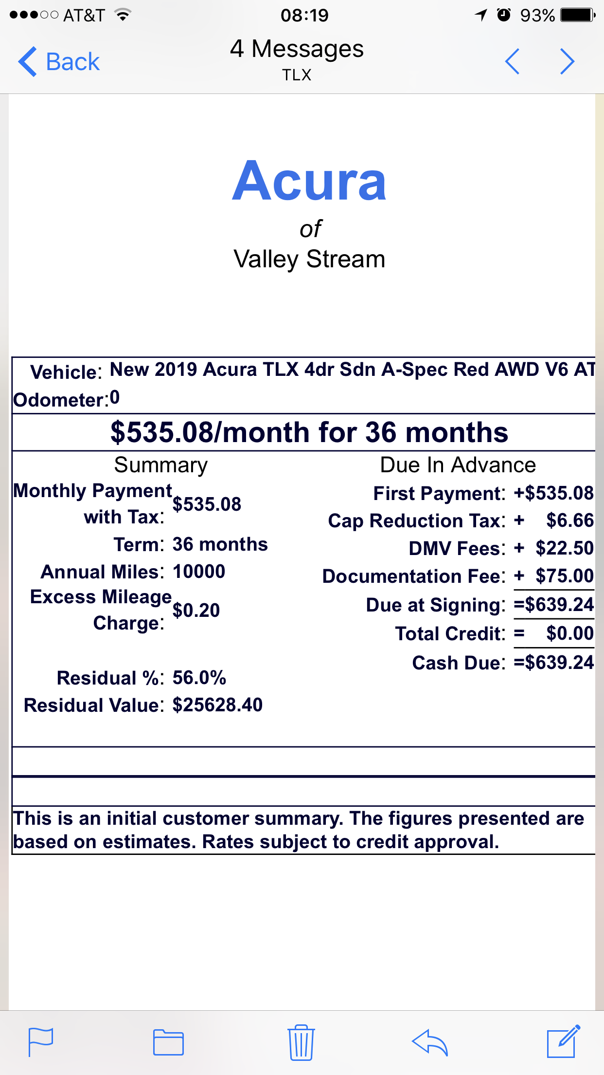 2019 Acura TLX Lease Deals and Prices — Car Forums at ...