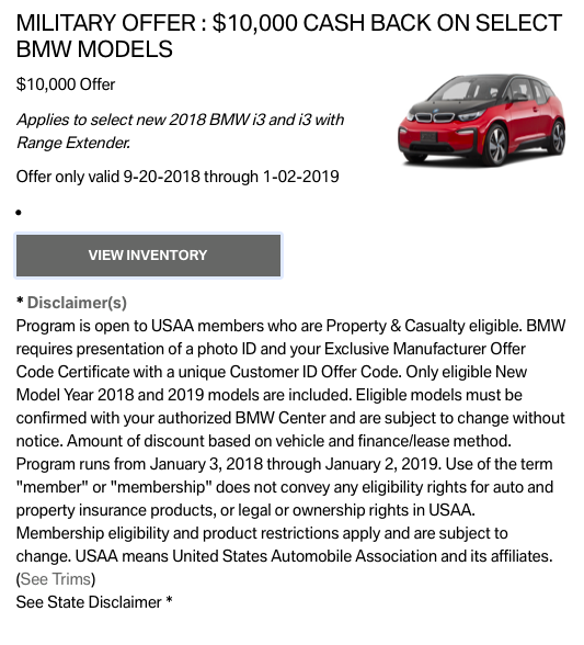 2018 BMW I3 Lease Deals And Prices