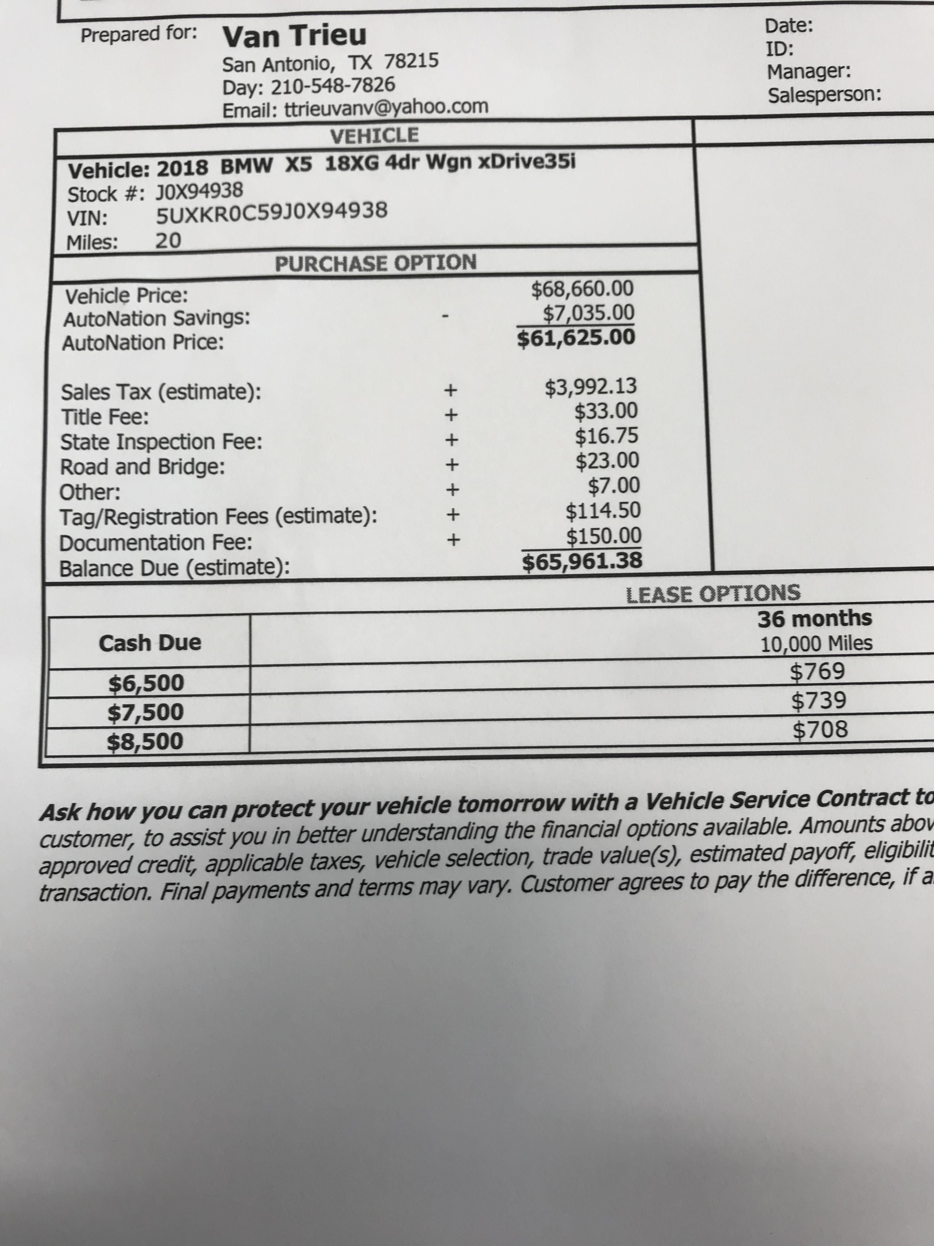 Estimate Lease Payment >> 2018 Bmw X5 Lease Deals And Prices Page 16 Car Forums At Edmunds Com