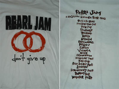 Pearl JAM-Don /'t give up T-shirt