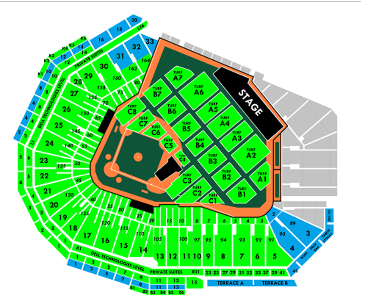 Fenway seating chart pearl jam community