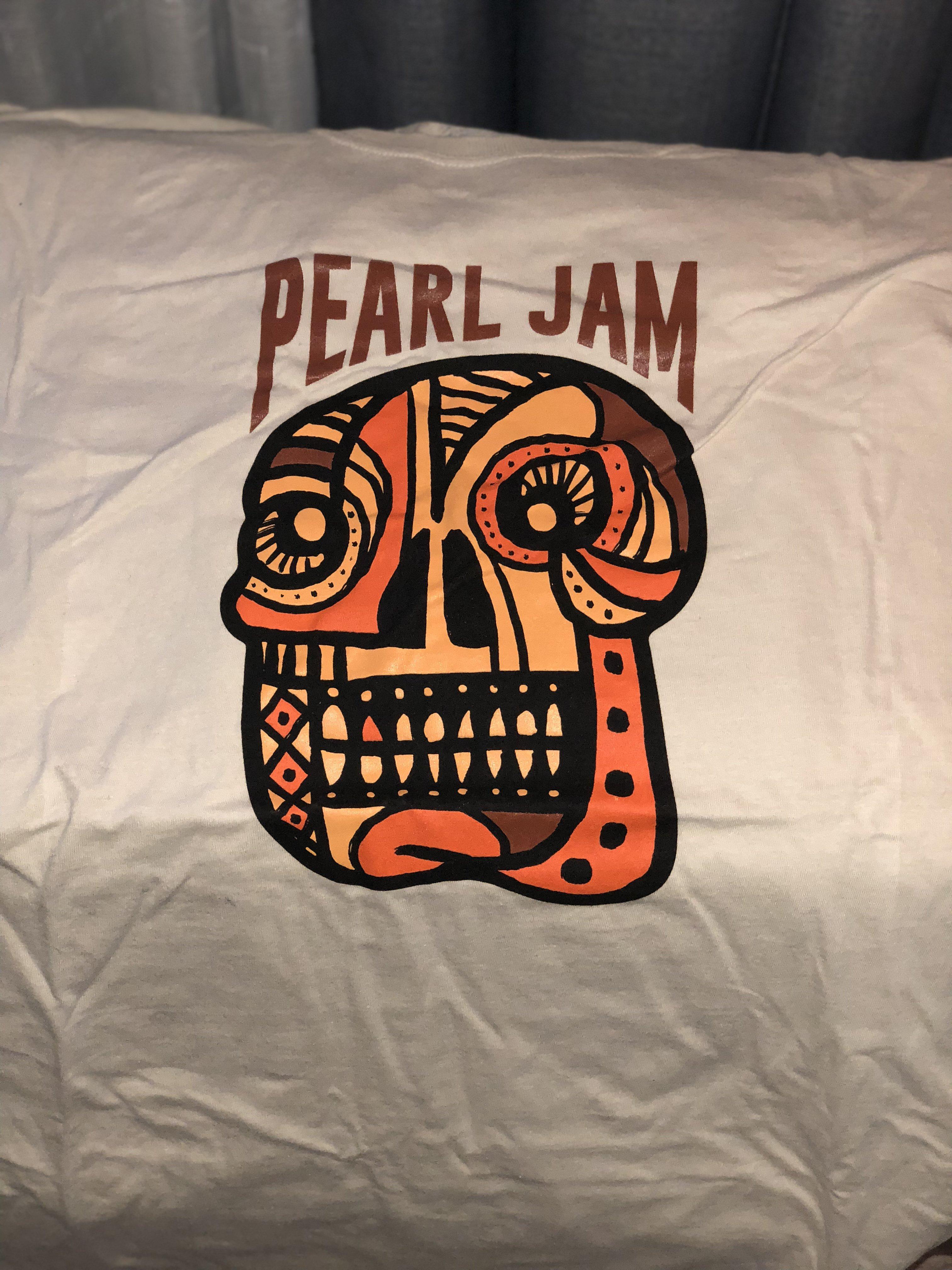Image result for pearl jam skull 2018 shirt