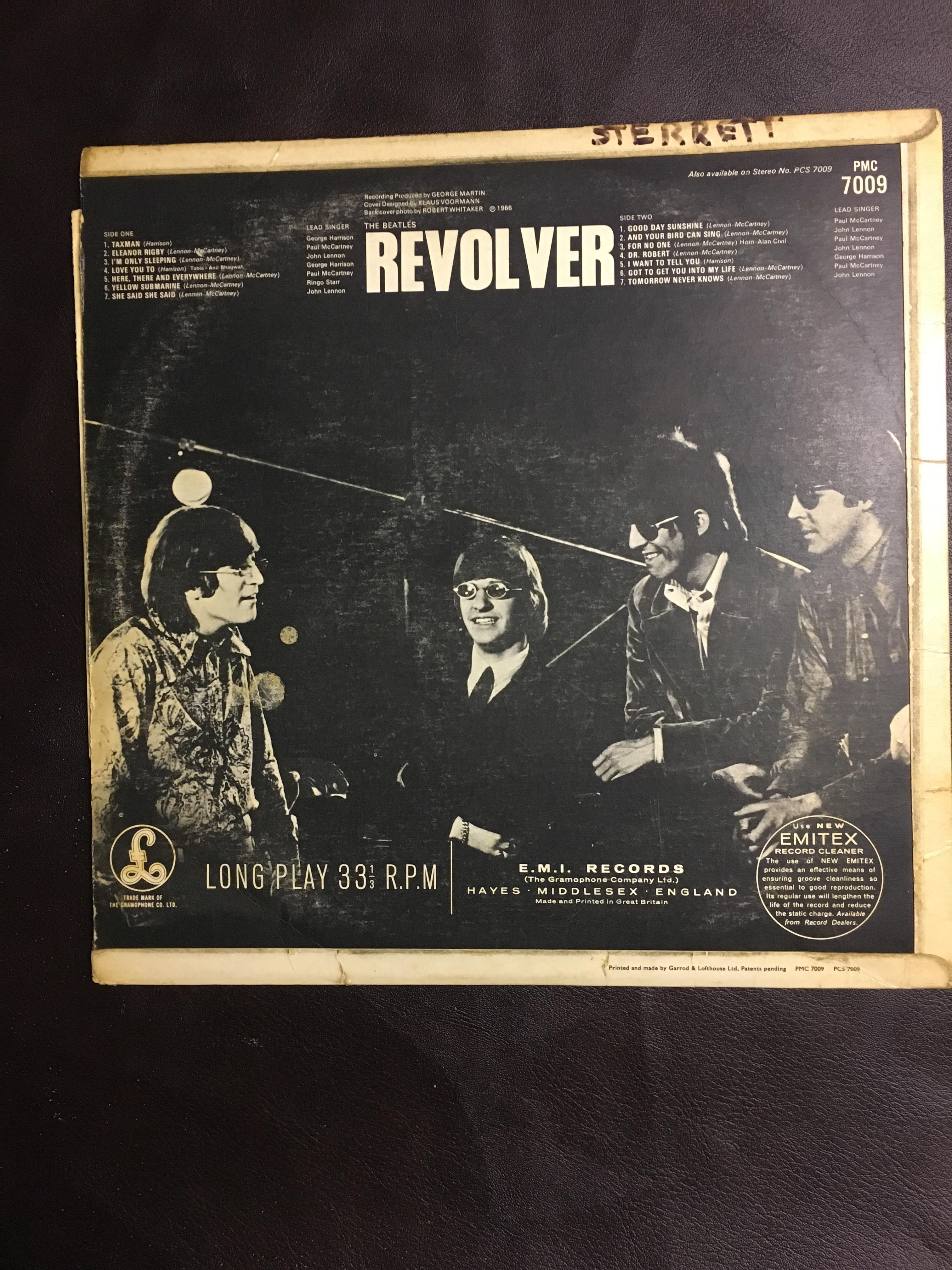 The Beatles Revolver Pmc 7009 First Pressing Uk Mono Vinyl