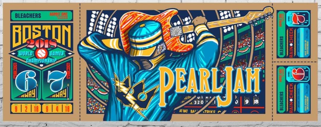 Frame For Brad Klausen Fenway Poster Pearl Jam Community