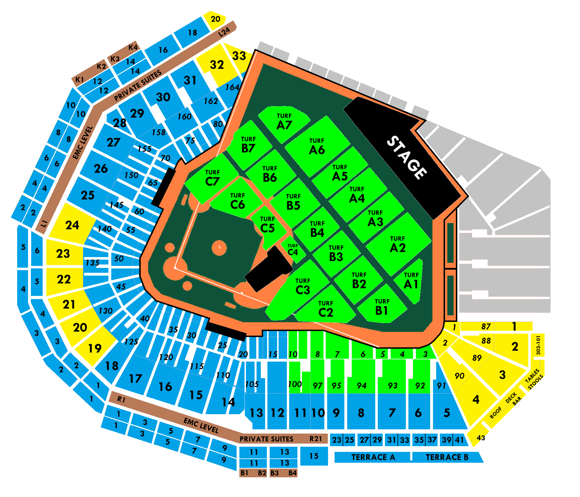 fenway seating chart — pearl jam community