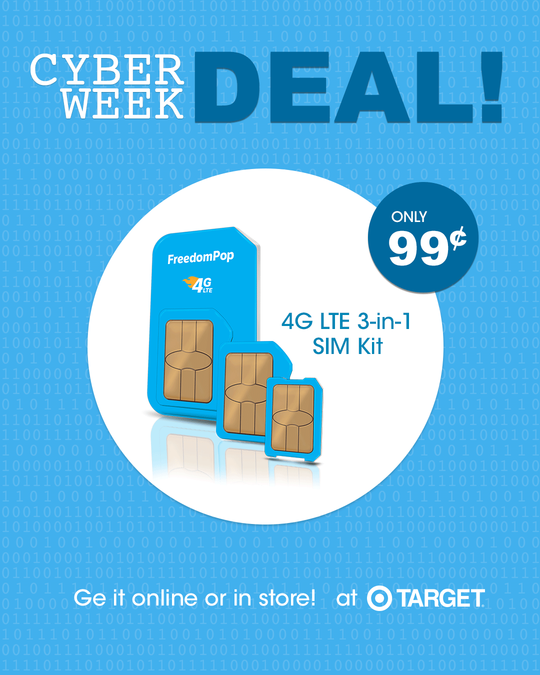 Target-Cyber Monday w/Extra 15% off! — FreedomPop Community