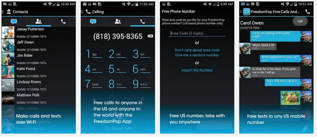 New Android Apps FreedomPop Free Call and Text (14 05 227 0128