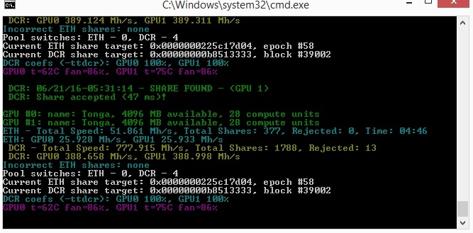25 mhs with a amd r9 380 powercolor — Ethereum Community Forum