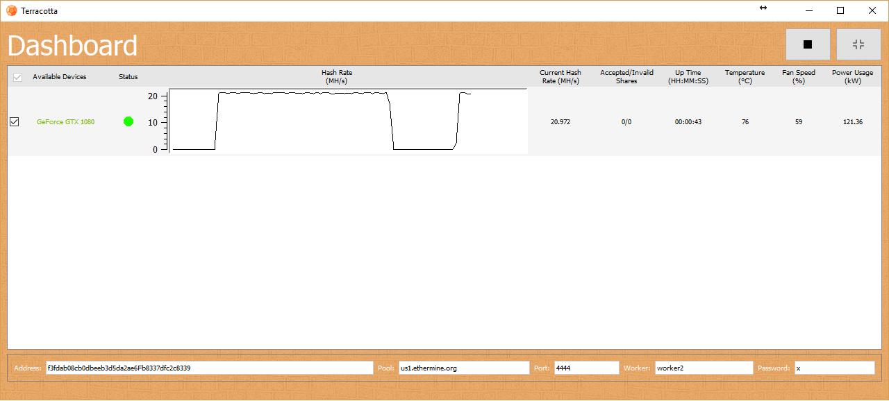 Terracotta Interface Screenshot