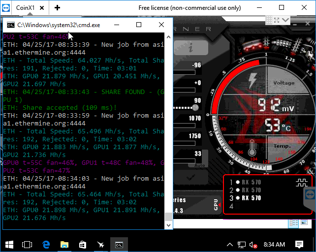 MSI RX570 Gaming X Overclock no effect — Ethereum Community Forum