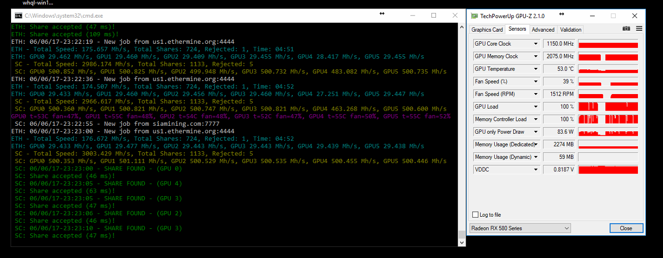 Sapphire RX 580 Pulse 8GB hash rates ???? — Ethereum Community Forum