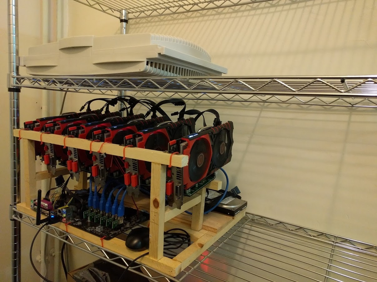 DIY Build - 6 X GPU Wooden Mining Rig Frame - YouTube