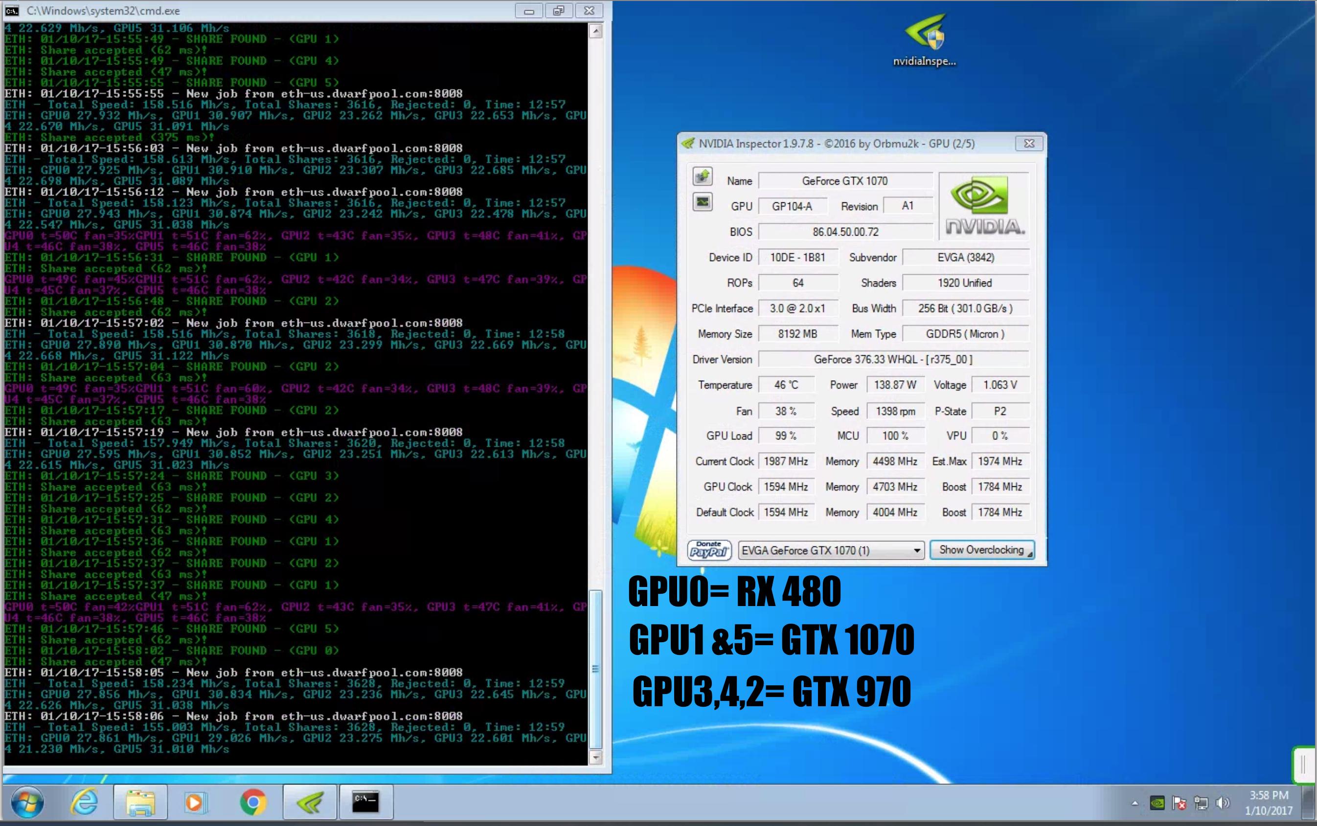 GTX 1070 FE Mining benchmarks - Page 2 — Ethereum Community Forum