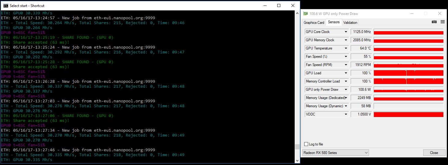 Gigabyte AORUS Radeon RX580 4G (Elpida) — Ethereum Community