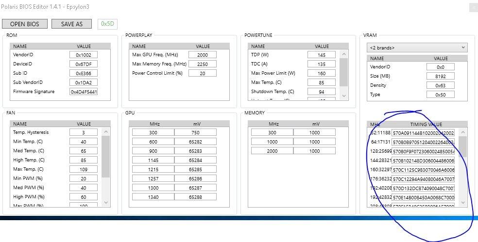 Flashing Sapphire RX580 Bios - Timing Table Problem