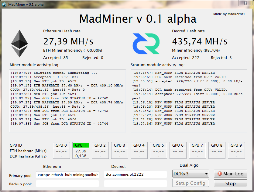 Released ! MadMiner - An ethereum dual miner for AMD GPUs — Ethereum