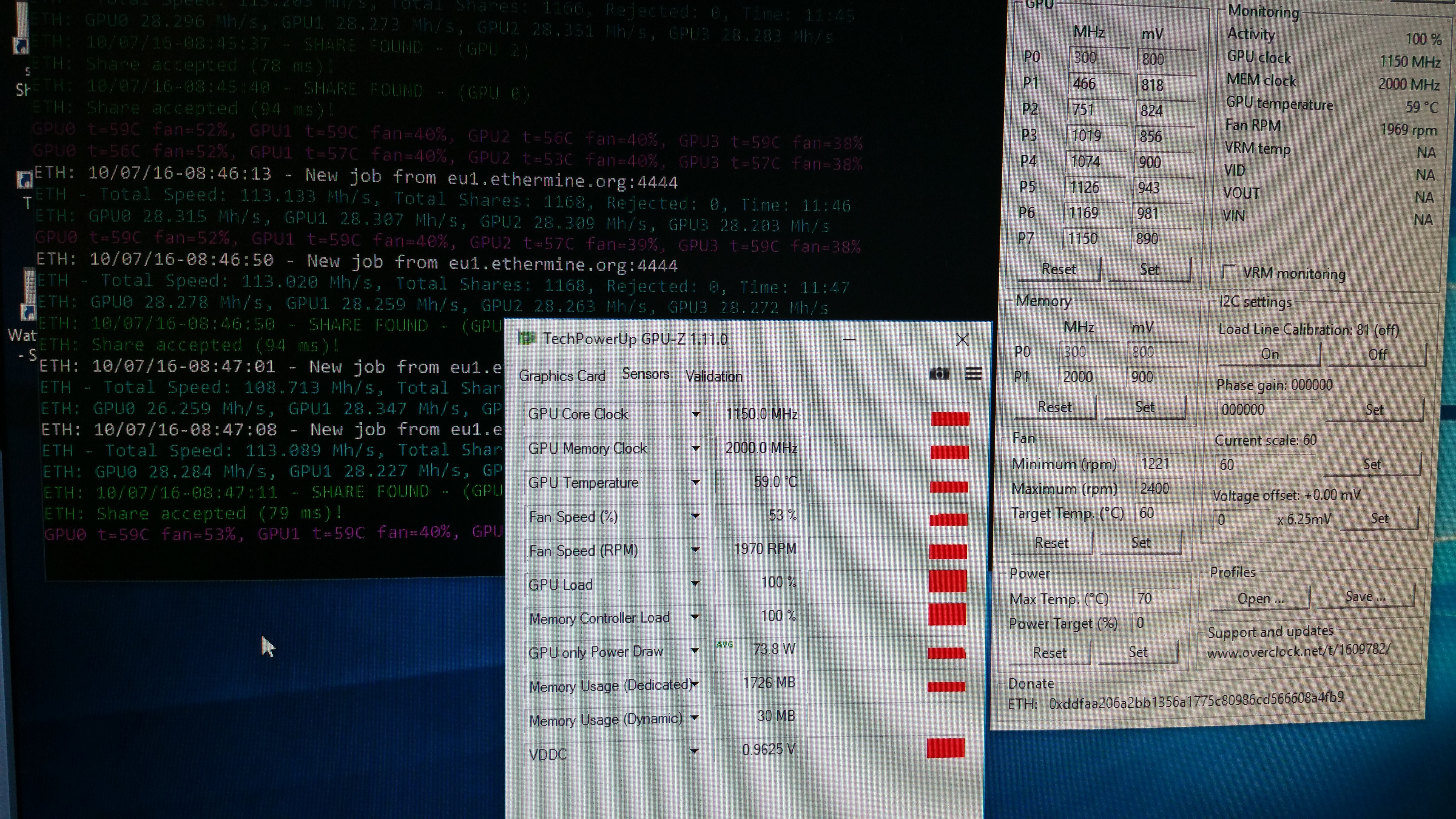 GIGABYTE Radeon™ RX 470 G1 Gaming, 4GB 28+MHS bios mod