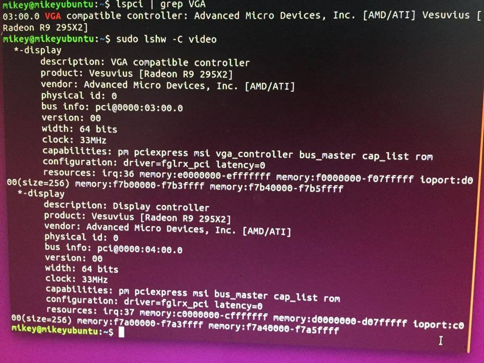 Newbie to Ubuntu running 1x R9 295x2 card — Ethereum Community Forum
